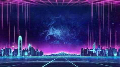 synthwave  retro neon city