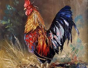 dessin et peinture video 1414 comment peindre des coqs With comment peindre a l huile