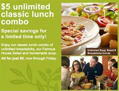 olive garden lunch special olive garden lunch specials hurry ends tomorrow
