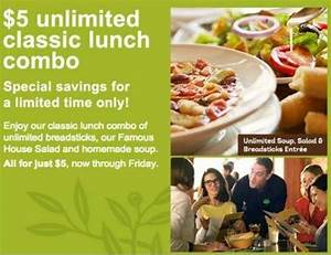 Olive Garden Lunch Specials Hurry Ends Tomorrow