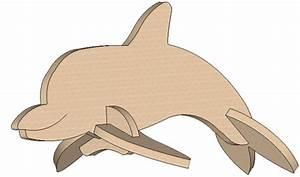 Dolphin Mini Puzzle - Mini Puzzles MakeCNC com