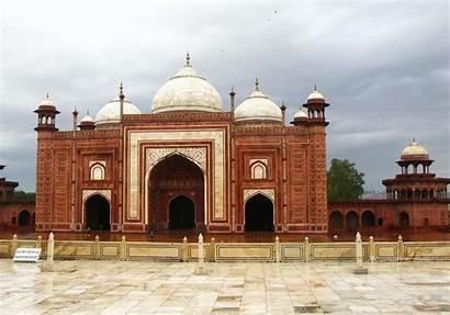 Mahal Taj Mosque India Masjid Stone Agra