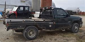 Lot 1076 2004 Chevy 3500 Duramax 4x4 Dually Flatbed With