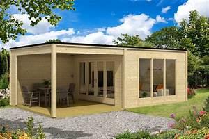 Gartenhaus Mit überdachter Terrasse : design gartenhaus cubus plus40 ~ Frokenaadalensverden.com Haus und Dekorationen