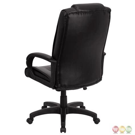 high back black leather executive office chair go 5301b bk