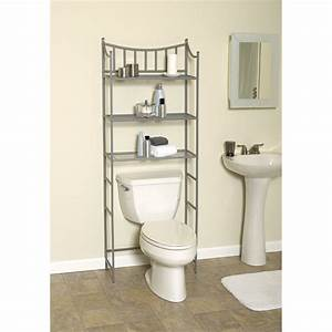 Shelves, Over, The, Toilet, As, The, Additional, Storage, For, Bathroom, Supplies