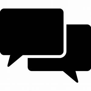 Speech bubble couple of black rectangular shapes - Free ...