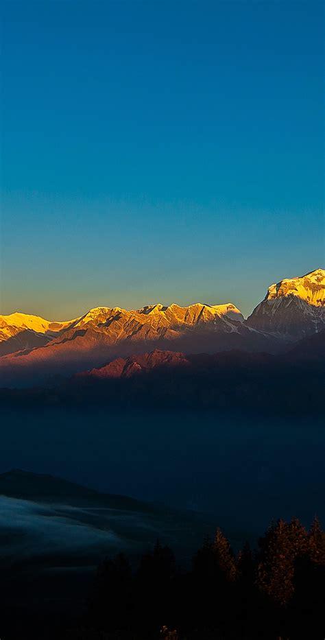 Download 1440x2960 Wallpaper Sunset, Clean Sky, Golden
