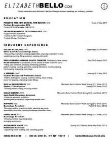 fashion internship resume exles r 233 sum 233 elizabethbello