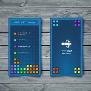 Business card tetris style vector free download for Tetris business cards
