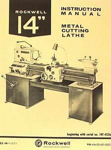 Rockwell 14 U0026quot  Cabinet Metal Lathe Operating
