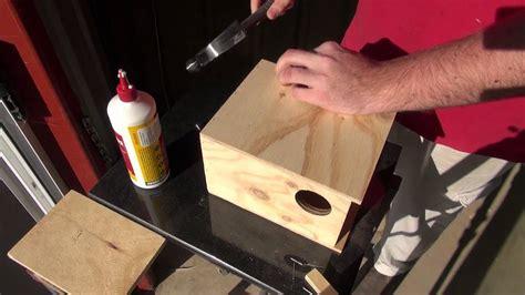 build  budgie nest box birdspyaus youtube