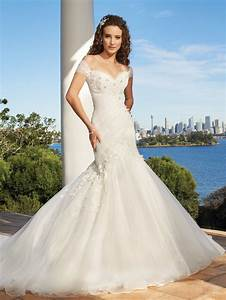 exclusively modern mermaid gown sweetheart neckline ruched With off the shoulder wedding dress with sleeves