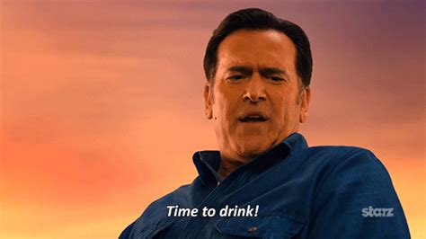 Bruce Cbell Memes - season 1 drinking gif by ash vs evil dead find share on giphy