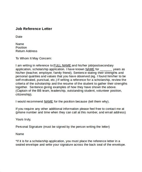 job reference letter gplusnick