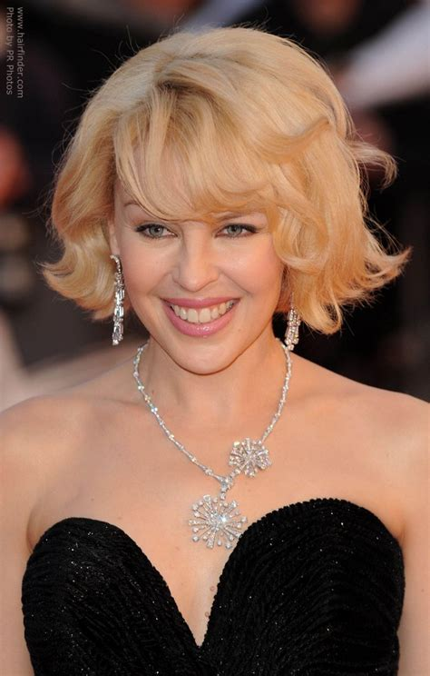 Kylie Minogue's easy to copy wavy short bob with lifted roots