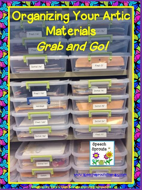 Speech Sprouts How To Organize For Grab And Go
