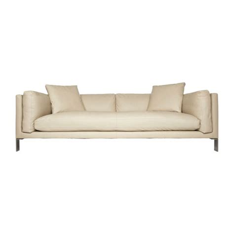 canape cuir beige newman sofas 3 seat sofa beige leather habitat