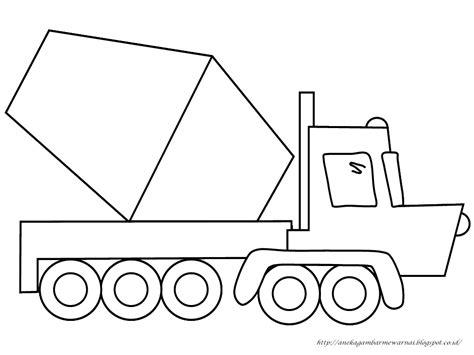 gambar mewarnai mobil molen untuk anak paud dan tk warna