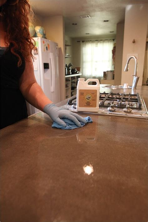 removing stains resealing concrete countertops run to - Removing Stains From Concrete Countertops