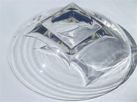 mod vintage glass salad bowl set hazel atlas square