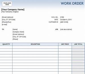 Printable Excel Free Work Order Templates – Project Management Certification Training