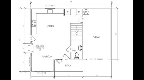 draw floor plan  autocad youtube