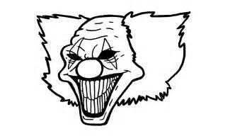 Scary Evil Clown Drawings Easy