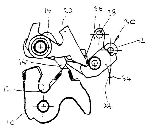 Car Latch Diagram by Patent Us6540271 Vehicle Door Latch Patents