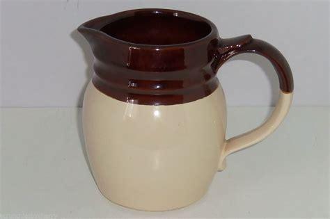 Mccoy Pitcher Brown Tan Cream Vintage 1272 Usa Mint