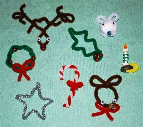 pipe cleaner crafts christmas pinterest