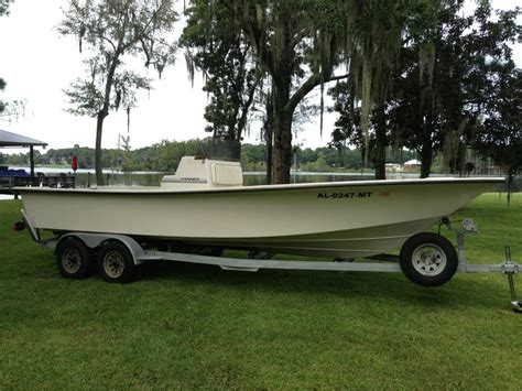 Bay Boats For Sale Mobile Al by 1997 24ft Bay Boat Hull And Trailer Sold