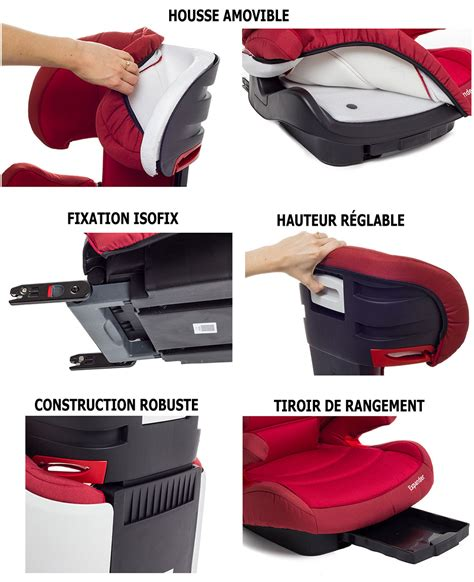 fixation siege auto isofix siège auto et rehausseur isofix expander groupe 2 et 3 15 à 36 kg evolutif achat vente