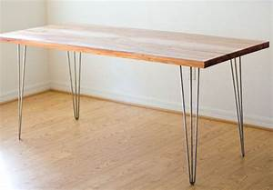 Image Gallery hairpin table legs