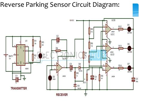 parking sensor circuit electronic circuits  diagram
