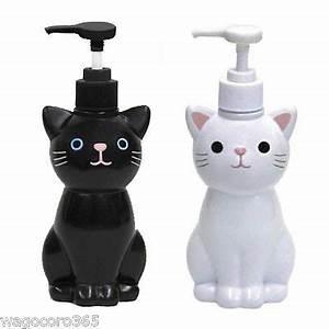 cat hand soap bottle pump dispenser white black With cute hand sanitizer dispenser