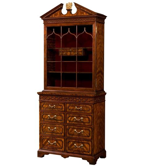 Mahogony Bookcase by Chippendale Style Mahogany Bookcase Glazed Bookcases