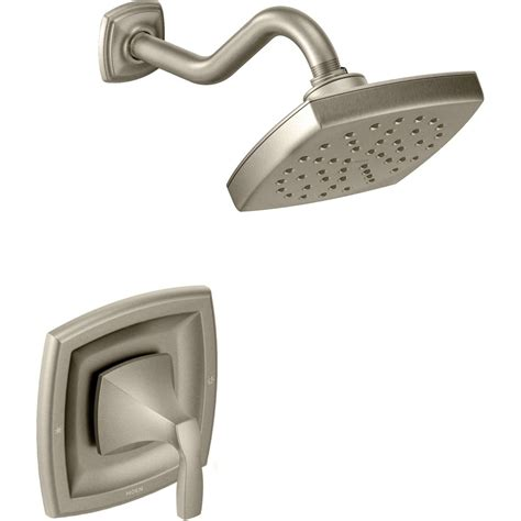 rubbed kitchen faucet moen t3692bn voss brushed nickel one handle shower only