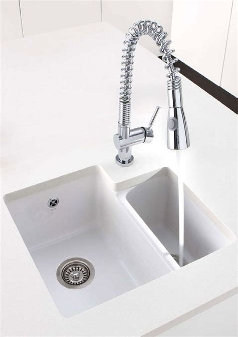 ceramic undermount kitchen sinks 1 5 caple paladin 1 5 bowl white ceramic undermount sink http 8119