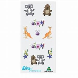 Australian Flowers & Animals Stickers Made in Australia