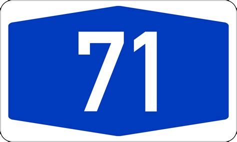 datei bundesautobahn 71 number svg wikipedia