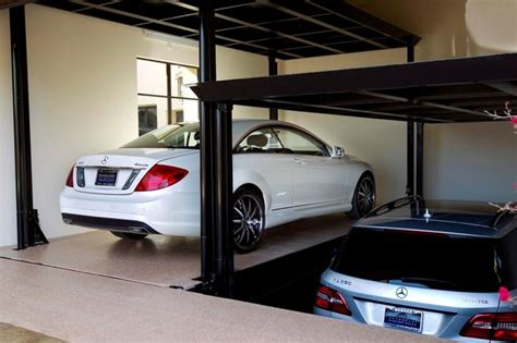 car lifts for garage custom car lift in california garage contemporary