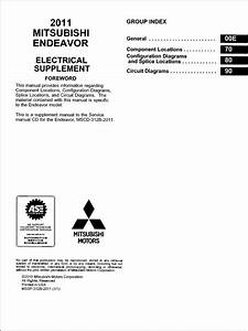 2011 Mitsubishi Endeavor Wiring Diagram Manual Original