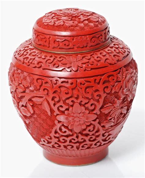 Carved Vase by Antique Carved Cinnabar Jar Vase With Blue