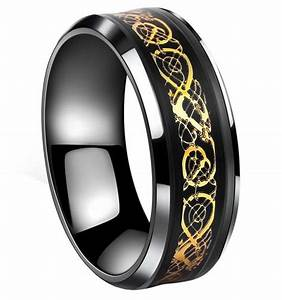 mens black gold wedding bands With black and gold mens wedding ring