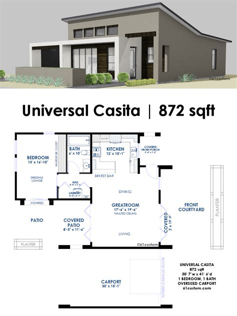 Small Kitchen Design Ideas Uk - universal casita house plan 61custom contemporary modern house plans