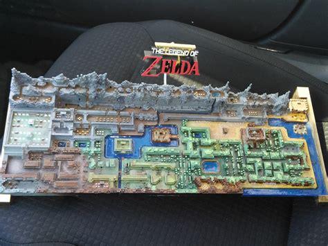 original  legend  zelda map printed   technabob