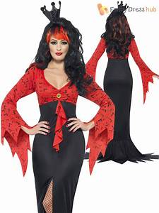 Ladies Morticia Vampire Costume Womens Halloween Long ...