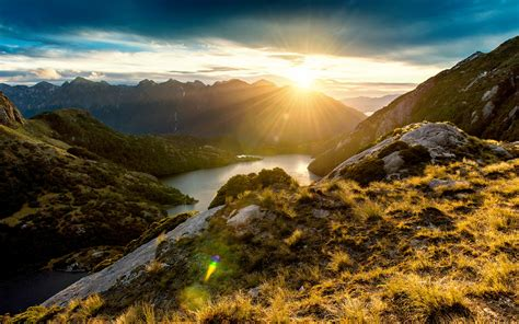 fiordland mountain sunrise wallpapers hd wallpapers id