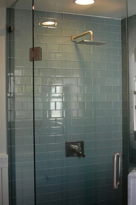 glass subway tile bathroom ideas glass subway tile subway tile showers subway tiles and tile showers